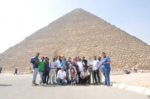 group picture journalist researchers cairo